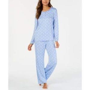 Charter Club Soft Knit Pajama Set SMALL Blue